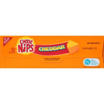 Cheese Nips Cheddar Baked Snack Crackers