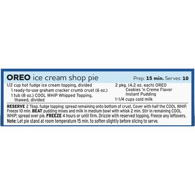 Jell-O Instant Cookies n Creme Pudding & Pie Filling Mix