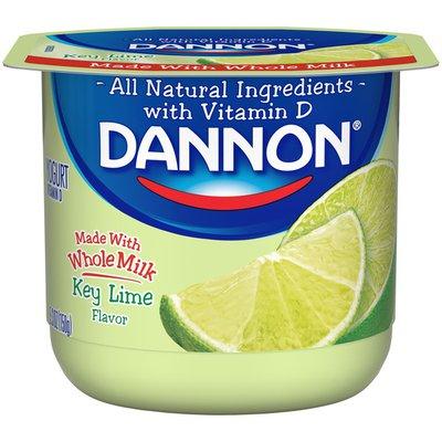 Brand Dannon Whole Milk Key Lime Yogurt