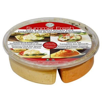 Summer Fresh Dips & Hummus, Variety Pack