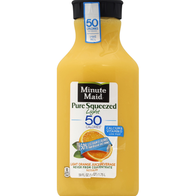 Minute Maid Juice Beverage, Light, Pure Squeezed, Orange
