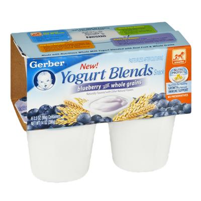 Gerber Yogurt Blends Snack Blueberry with Whole Grains Yogurt