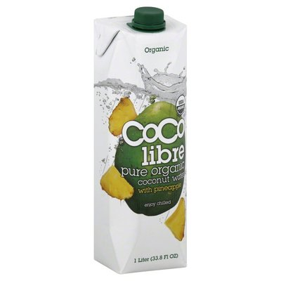 Coco Libre Organic Coconut Water, Pure Organic, with Pineapple