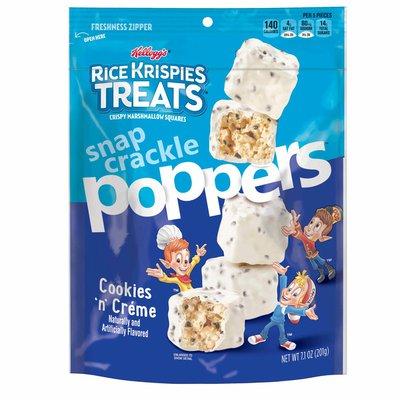 Kellogg's Rice Krispies Treats Poppers Crispy Marshmallow Squares, Cookies n' Crème