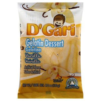 D Gari Gelatin Dessert, Vanilla