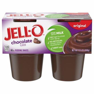 Jell-O Original Chocolate Ready-to-Eat Pudding Snacks