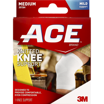 Ace Knee Support, Knitted, Mild Support, Medium