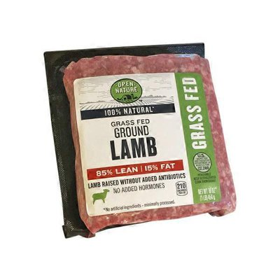 Open Nature 85% Lean | 15% Fat Grass Fed Ground Lamb