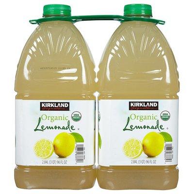 Kirkland Signature Organic Lemonade, 2 x 96 fl oz