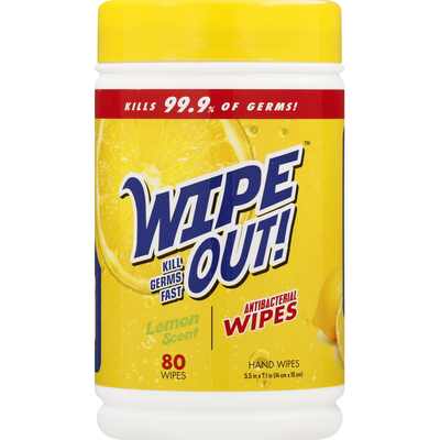 Wipe Out Hand Wipes, Antibacterial, Fresh Scent