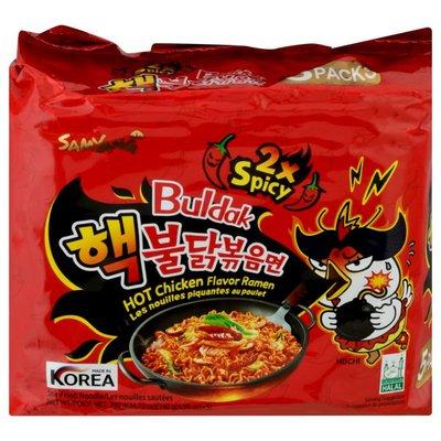 Samyang Ramen, Hot Chicken Flavor, Buldak, 5 Packs