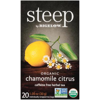 Steep By Bigelow Organic Chamomile Citrus Caffeine Free Herbal Tea Bags