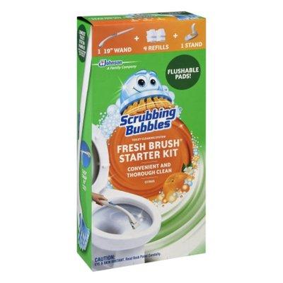 Scrubbing Bubbles Fresh Brush Starter Kit, Citrus, Toilet Cleaning System