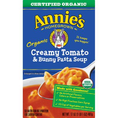 Annie's Creamy Tomato and Bunny Pasta Soup