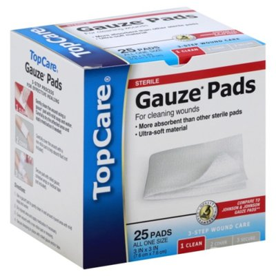 TopCare Gauze Pads, All One Size