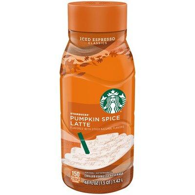 Starbucks Pumpkin Spice Latte  Fluid  Glass Bottle