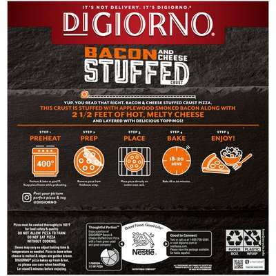 DiGiorno Bacon and Cheese Stuffed Crust Better with Bacon Frozen Pizza