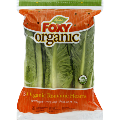 Foxy Organic Romaine, Hearts