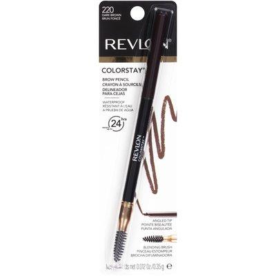 Revlon Brow Pencil, Waterproof, Dark Brown 220