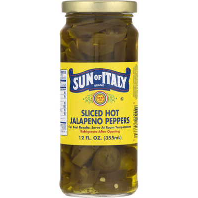 Sun Of Italy Jalapeno Peppers, Sliced Hot