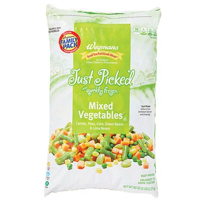 Wegmans Food You Feel Good About Just Picked and Quickly Frozen Mixed Vegetables, FAMILY PACK