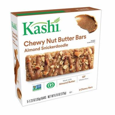 Kashi Chewy Nut Butter Granola Bars, Gluten Free Fiber Bars, Vegan Snacks