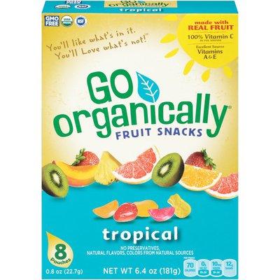 Go Organically Tropical Fruit Snacks