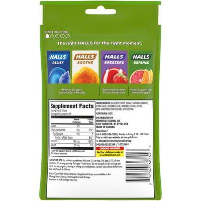 Halls Defense Assorted Citrus Dietary Supplement Drops