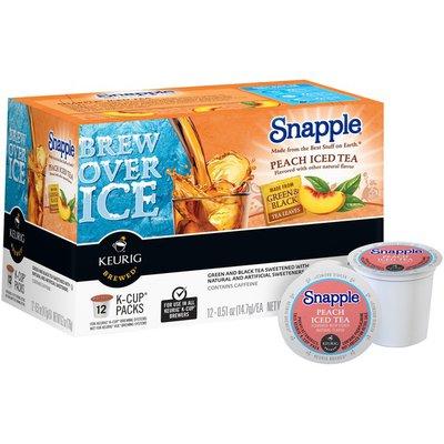 Snapple Peach Iced K-Cup Packs Tea