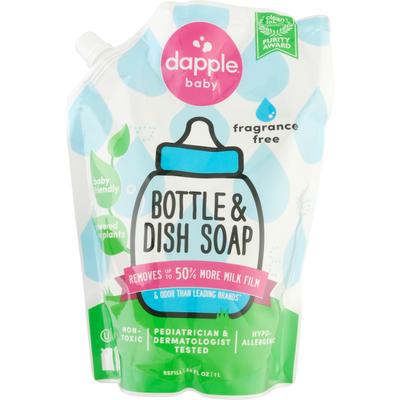 Dapple Bottle & Dish Soap Refill, Fragrance Free