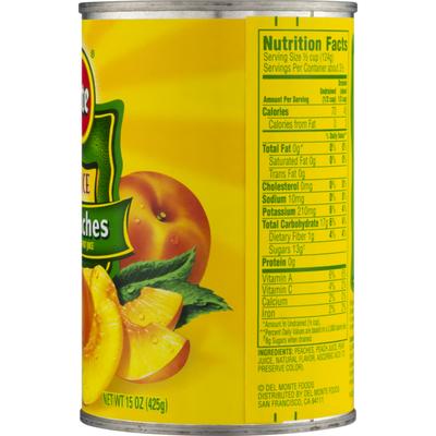 Del Monte 100% Juice Sliced Peaches