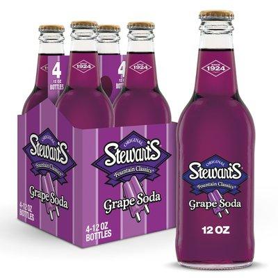 Stewart's Grape Soda Made with Sugar