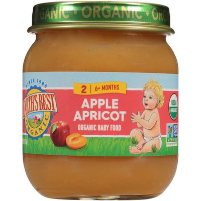 Earth's Best Stage 2 Apples Apricot Organic Baby Food