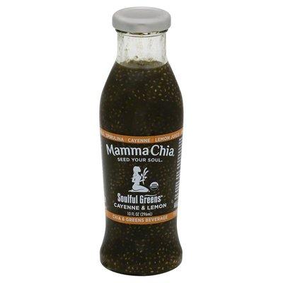 Mamma Chia Beverage, Cayenne & Lemon, Soulful Greens, Bottle