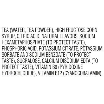 Fuze Iced Tea Lemon Bottle With Vitamins B6 And B12