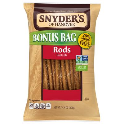 Snyder's of Hanover Pretzels, Rods, Bonus Bag