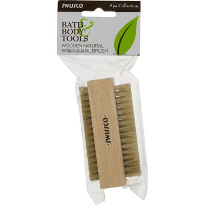 Swissco Wooden Natural Bristle Nail Brush