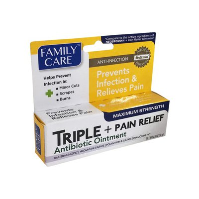 Family Care Triple Antibiotic Ointment Pain Relief