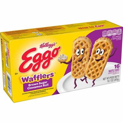 Eggo Wafflers Frozen Waffles, Easy Breakfast, Brown Sugar Cinnamon Roll