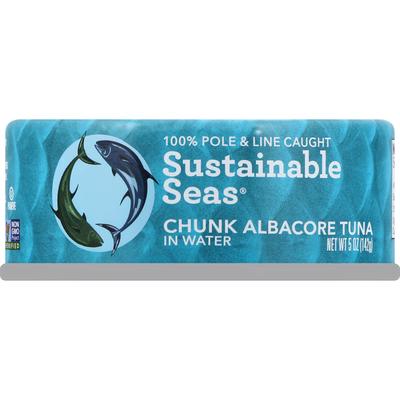 Sustainable Seas Albacore Tuna, Chunk, in Water