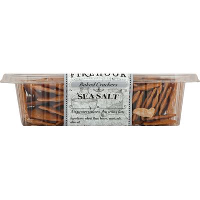Firehook Mediterranean Baked Crackers, Sea Salt