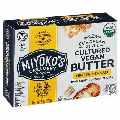 Miyoko's Creamery Butter, Cultured Vegan, Hint of Sea Salt, European Style