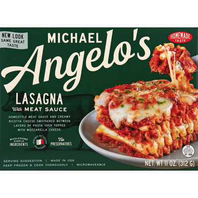 Michael Angelo's Lasagna, with Meat Sauce