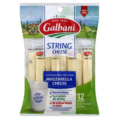 Galbani Low Moisture Part Skim String Cheese Mozzarella