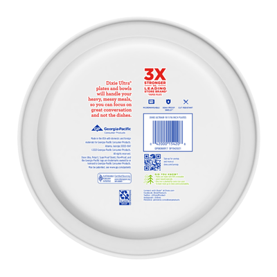 Dixie Ultra Paper Plates, 10 Inch Dinner Plate (Designs May Vary)