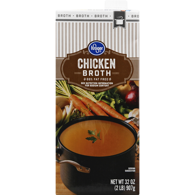 Kroger Chicken Broth, 99% Fat Free