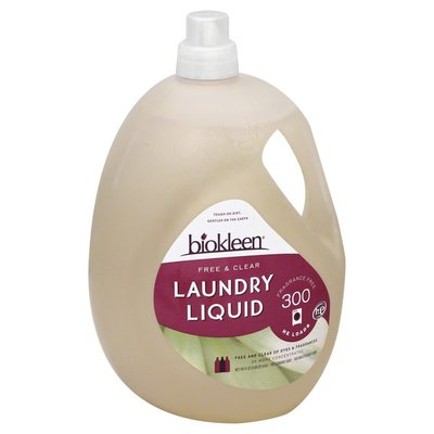 Biokleen Free & Clear Laundry Liquid Detergent 300 Loads