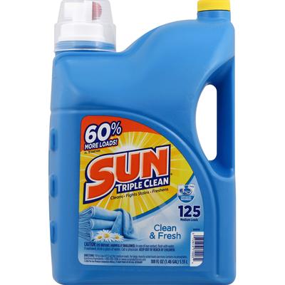 Sun Triple Clean Clean & Fresh Laundry Detergent
