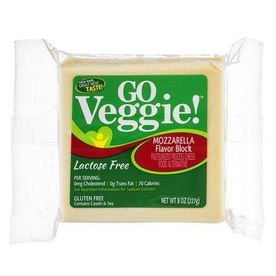 GO VEGGIE Lactose Free Cheese Block Mozzarella