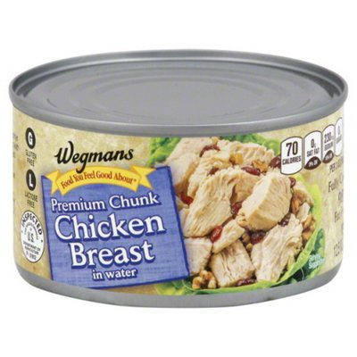 Wegmans Food You Feel Good About Premium Chunk Chicken Breast in Water